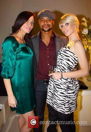 (l-r) Charlotte Dutton, Cuba Gooding Jr and Linzi Stoppard Swarovski Crystalised store launch on Great Marlborough Street. London, England -...