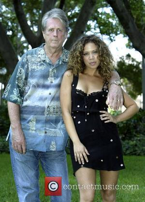 Brian Wilson of the Beach Boys and Jade MacRae  at a photocall for the Sydney Festival 2008 held in...