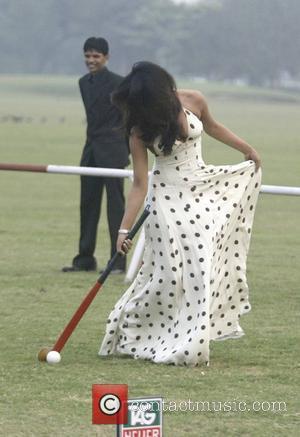 Bollywood actor Priyanka Chopra tries playing Hockey Tag Heuer Polo match New Delhi, India - 02.12.07