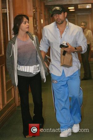 Taryn Manning and her boyfriend leave a medical center looking like a happy couple Los Angeles, California - 03.03.08