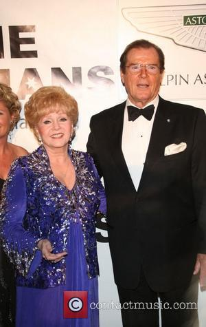 Debbie Reynolds and Sir Roger Moore