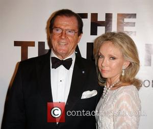 Roger Moore and His Wife Christina Tholstrup