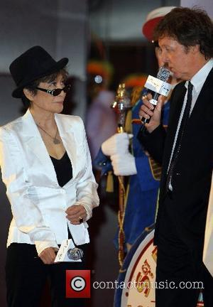 Paul McCartney and Yoko Ono Lennon The Beatles 'Love' by Cirque Du Soleil celebrates 1st Anniversary at The Mirage Hotel...
