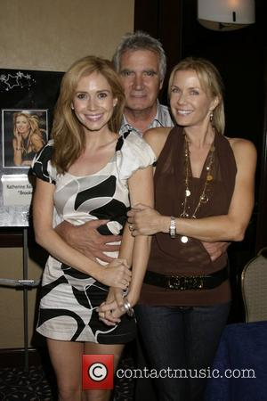 Ashley Jones , John McCook, and Katherine Kelly Lang The Bold and the Beautiful Fan Luncheon held at the Universal...