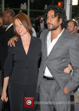Barbara Hershey and Naveen Andrews attend the premiere of The Brave One at the Time Warner Cinema New York City,...