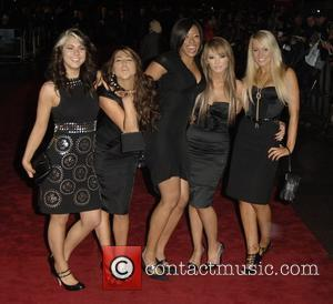 X-Factor contestants Charlie Mole, Phoebe Brown, Emily Biggs, Raquelle Gracie and Leah Lauder of group Hope  'The Golden Compass'...