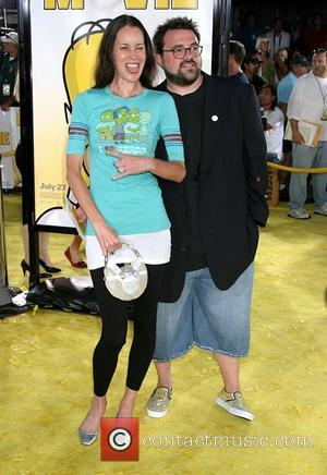 Kevin Smith and Jennifer Schwalbach Smith 'The Simpsons Movie' premiere at the Mann Village Theater - Arrivals Westwood, California -...