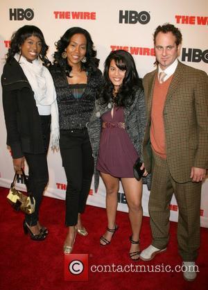 Shakira, Sonja Sohn, Sophia and Adam Plack New York Premiere of HBO's 'The Wire' at Chelsea West Cinema New York...