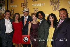 Neil Jordan, Susan Downey, Terrence Howard, Jodie Foster, Naveen Andrews, Joel Silver New York Premiere of 'The Brave One' at...