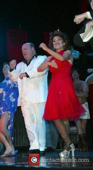 Kevin Chamberlin & Rosie Perez Opening Night Curtain Call for the Broadway Revival of 'The Ritz' held at Studio 54...