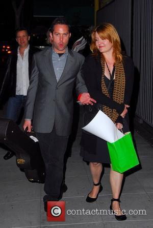 Thomas Lennon walking on Santa Monica Boulevard with his wife Santa Monica. California - 19.04.08