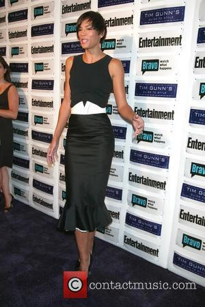 Veronica Webb posing for photographers at the Entertainment Weekly and Bravo party celebrating Tim Gunn's Guide To Style, held at...
