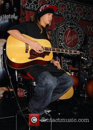 Tom Kaulitz of the German band Tokio Hotel at an album signing at Virgin Megastore in Times Square New York...