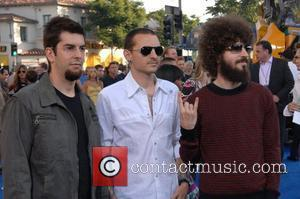 Linkin Park Los Angeles premiere of 'Transformers' held at the Mann Village Theater Westwood, California - 27.06.07