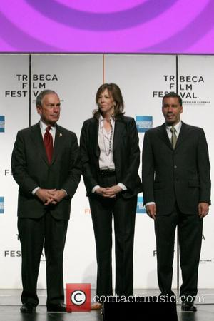Mayor Michael Bloomberg, Jane Rosenthal and Governor David Paterson