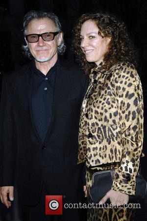 Harvey Keitel with wife 2008 Tribeca Film Festival Vanity Fair Party at the State Supreme Courthouse New York City, USA...