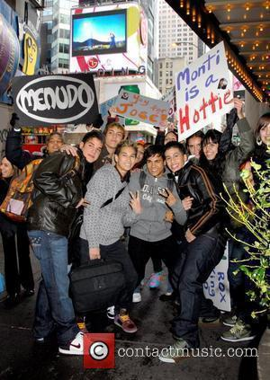 The new Menudo outside MTV TRL Studios in Times Square New York City, USA - 19.11.07