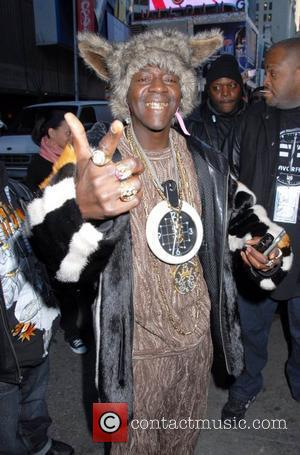 Flavor Flav  arriving at MTV's 'TRL' studios in Times Square New York City, USA - 25.02.08