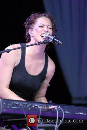 Amanda Palmer of the Dresden Dolls True Colors Tour in support of the Human Rights Campaign at the Greek Theatre...