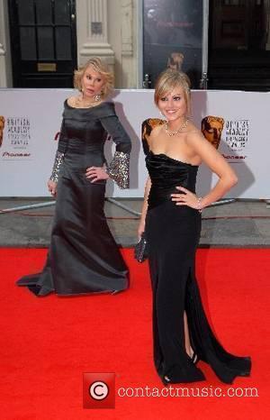 Joan Rivers and Tina O'Brien The Pioneer British Academy Television Awards at the London Palladium - Arrivals London, England -...