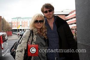 Rita Simons and Robert Kazinsky British soap stars arrive at their hotel ahead of the TV Now Awards Dublin, Ireland...