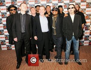 UB 40 British Red Red Wine reggae band UB40 held a press conference at Hotel Intercontinental to discuss details of...