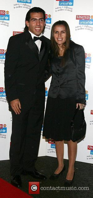 Carlos Tevez and guest UNICEF Gala dinner held at Old Trafford Football Ground - Arrivals Manchester, England - 28.10.07