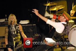 Duff McKagan and Scott Weiland of Velvet Revolver performing live at a secret gig at the Whisky A Go Go...