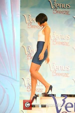 Rihanna is named 2007 Venus Breeze 'Celebrity Legs of a Goddess' - Photocall New York City, USA - 08.06.07