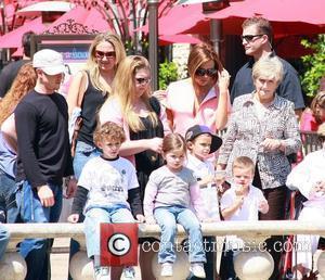 Victoria Beckham, Sandra Beckham and David Beckham