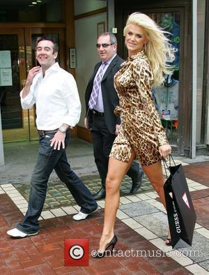 Victoria Silvstedt leaving the Westbury Hotel wearing a very revealing animal print dress Dublin, Ireland - 17.09.07