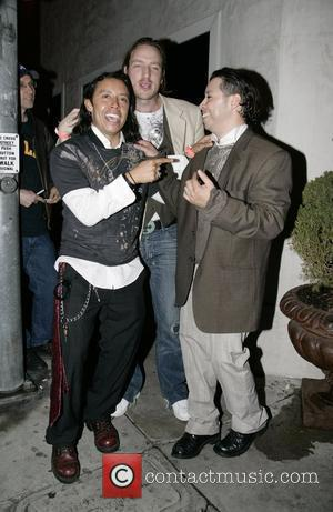Efren Ramirez and friends leaving Villa Lounge in West Hollywood Los Angeles, California - 13.03.08