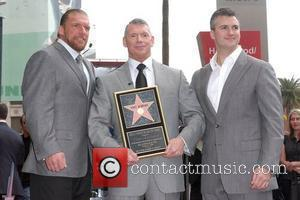 Triple H, Vince McMahon, Shane McMahon Vince McMahon honoured with the 2357th Star on the Hollywood Walk Of Fame on...