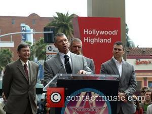 Triple H and Shane McMahon, Vince McMahon Vince McMahon honoured with the 2357th Star on the Hollywood Walk Of Fame...