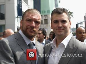 Triple H and Shane McMahon Vince McMahon honoured with the 2357th Star on the Hollywood Walk Of Fame on Hollywood...