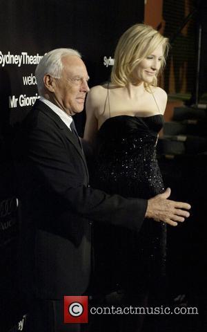 Giorgio Armani and Cate Blanchett The Sydney Theatre Company hosts a VIP dinner to honor Giorgio Armani at the Wharf...