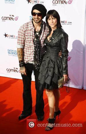 AJ McLean, wife Yvonne Viva Comet Awards 2008, held at the Koenig Pilsener Arena Oberhausen, Germany - 23.05.08