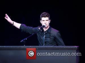 Robin Thicke performing at 'VMA Fandemonium: A Concert To Benefit Lifebeat' at The House of Blues in the Mandalay Bay...
