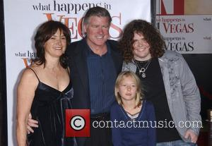 Treat Williams with his wife Pam Van Sant, son Gill Williams and daughter Elinor Williams Los Angeles premiere of 'What...