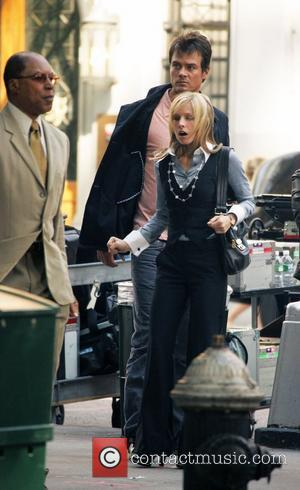 Josh Duhamel and Kristen Bell on the set of the upcoming movie 'When in Rome' filming in Manhattan New York...
