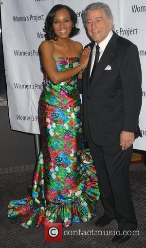 Kerry Washington and Tony Bennett