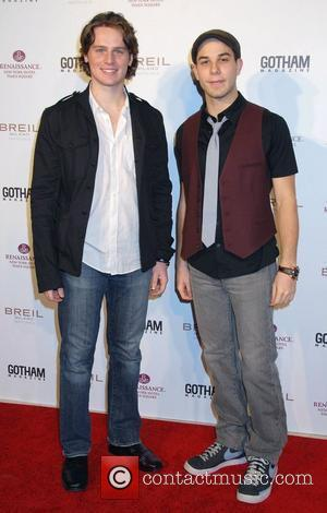 Jonathan Groff and Skylar Astin Gotham magazine celebrates the new look of Renaissance New York Hotel in Times Square New...