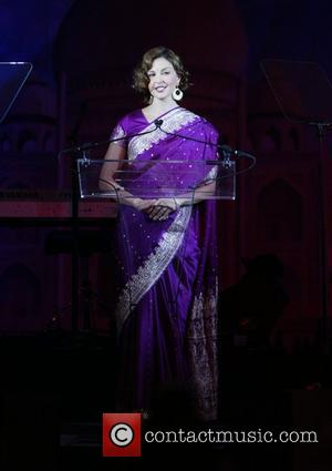 Ashley Judd on stage at the 2007 Youth Aids Gala 'Faces of India' at The Ritz Carlton, Tysons Corner Washington...
