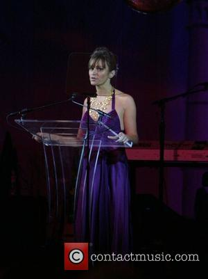 Kate Roberts On Stage At The 2007 Youth Aids Gala 'faces Of India' At The Ritz Carlton and Bono