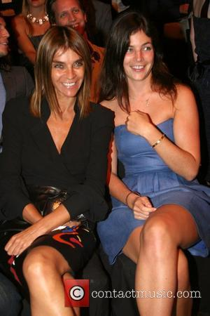 Carine Roitfeld and Julia Restoin-Roitfeld Mercedes-Benz Fashion Week New York Spring 2008 at Bryant Park - Zac Posen - Inside...