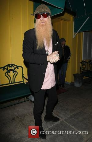 Billy Gibbons of ZZ Top leaving Dan Tanas restaurant West Hollywood, California - 24.02.08