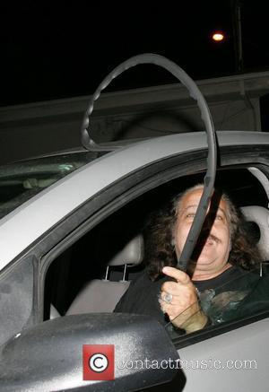 Ron Jeremy  is mocked by the paparazzi for the bad state of his car as he leaves Dan Tanas...