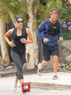 Matthew McConaughey Wearing a V-Max weight vest whilst jogging with his personal trainer Malibu, California - 31.07.08