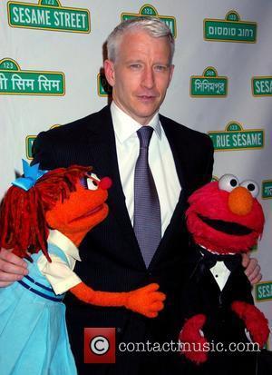 Anderson Cooper and Elmo