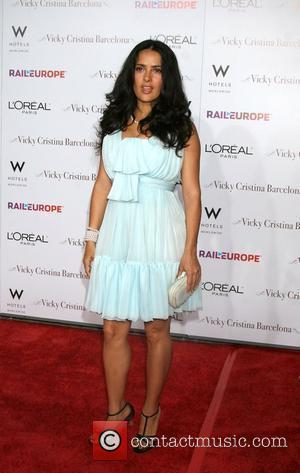 Salma Hayek arriving at the LA Premiere of Vicky Cristina Barcelona at the Village Theater in  Westwood, California -...